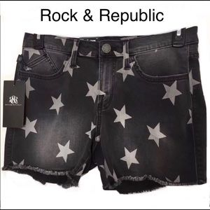 Rock & Republic Shorts Sz 6 Stars Mid-Rise NWT